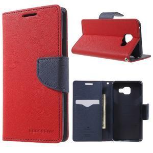 Goospery peňaženkové puzdro na Samsung Galaxy A3 (2016) - červené - 1