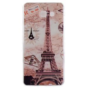 Ultratenký gélový obal pre mobil Samsung Galaxy A3 (2016) - Eiffelova veža - 1