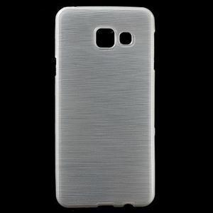 Gélový obal s motivem broušení na Samsung Galaxy A3 (2016) - biely - 1