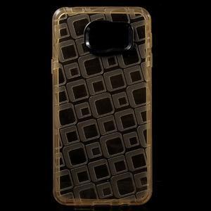 Square gélový obal na mobil Samsung Galaxy A3 (2016) - zlatý - 1