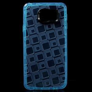 Square gélový obal pre mobil Samsung Galaxy A3 (2016) - modrý - 1