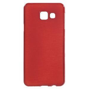 Gélový obal s motívom broušení pre Samsung Galaxy A3 (2016) - červený - 1