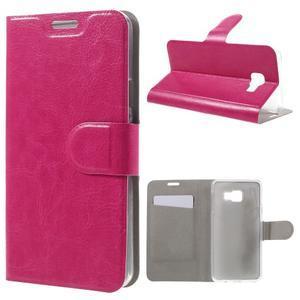 Horse peňaženkové puzdro pre Samsung Galaxy A3 (2016) - rose - 1