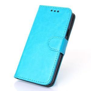 Wallet puzdro na mobil Samsung Galaxy A3 (2016) - modré - 1