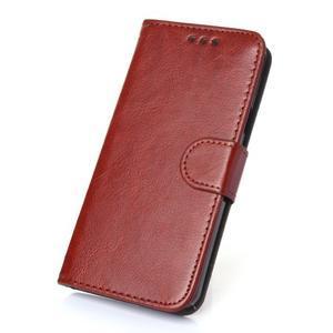 Wallet puzdro na mobil Samsung Galaxy A3 (2016) - hnedé - 1