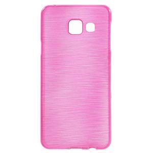 Gélový obal s motívom broušení pre Samsung Galaxy A3 (2016) - rose - 1