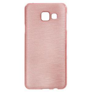 Gélový obal s motivem broušení na Samsung Galaxy A3 (2016) - růžový - 1