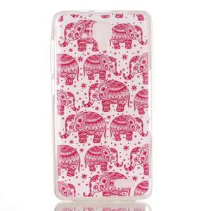 Gélový obal pre mobil Lenovo A536 - ružoví slony - 1