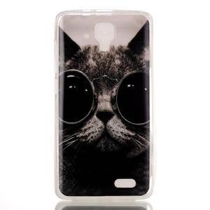 Gélový obal na mobil Lenovo A536 - kočka mafián - 1