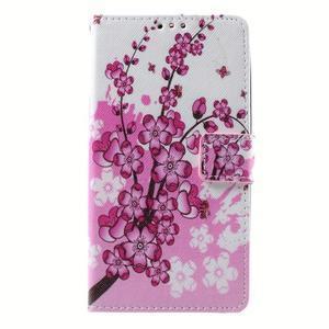 Peňaženkové puzdro na mobil Lenovo A536 - kvetoucí větvička - 1