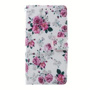 Peňaženkové puzdro na mobil Lenovo A536 - květiny - 1