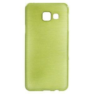 Gélový obal s motivem broušení na Samsung Galaxy A3 (2016) - zelený - 1