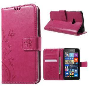 Butterfly peňaženkové puzdro na Microsoft Lumia 535 - rose - 1