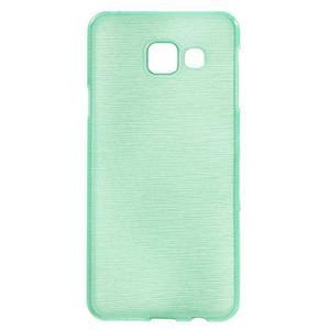 Gélový obal s motivem broušení na Samsung Galaxy A3 (2016) - azurový - 1