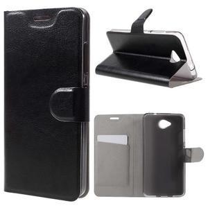 Horse peňaženkové puzdro pre mobil Microsoft Lumia 650 - čierné - 1