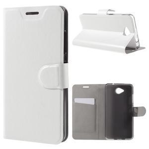 Horse peňaženkové puzdro na mobil Microsoft Lumia 650 - biele - 1