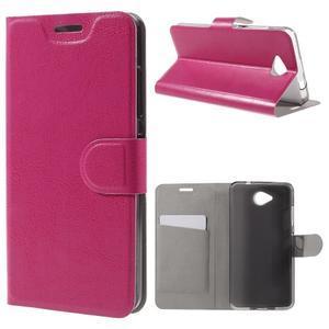 Horse peňaženkové puzdro na mobil Microsoft Lumia 650 - rose - 1
