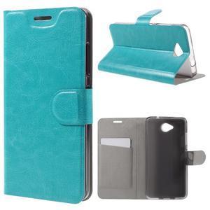 Horse peňaženkové puzdro pre mobil Microsoft Lumia 650 - modré - 1