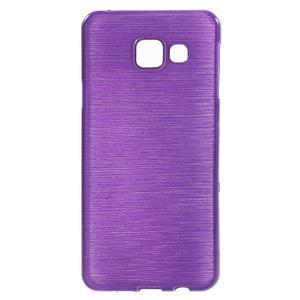 Gélový obal s motivem broušení na Samsung Galaxy A3 (2016) - fialový - 1
