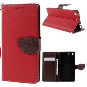 Blade Peňaženkové puzdro pre Sony Xperia M5 - červené - 1