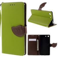 Blade Peňaženkové puzdro pre Sony Xperia M5 - zelené - 1/3