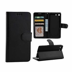 Horse PU kožené puzdro pre Sony Xperia M5 - čierne - 1
