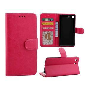 Horse PU kožené puzdro pre Sony Xperia M5 - rose - 1