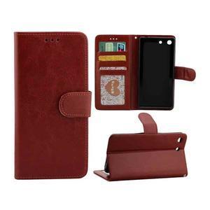 Horse PU kožené pouzdro na Sony Xperia M5 - hnědé - 1