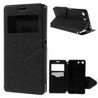 Diary puzdro s okienkom na Sony Xperia M5 - čierne - 1/7