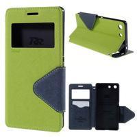 Diary pouzdro s okýnkem na Sony Xperia M5 - zelené - 1/7