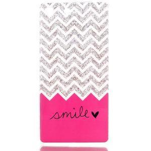 Style gélový obal pre Sony Xperia M5 - smile - 1