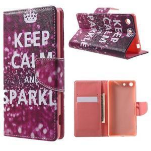 Stand Peňaženkové puzdro pre Sony Xperia M5 - Keep Calm - 1