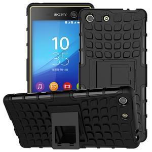 Outdoor odolný kryt pre mobil Sony Xperia M5 - čierny - 1