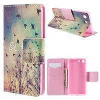 Crafty Peňaženkové puzdro pre Sony Xperia M5 - vtáčiky - 1/7