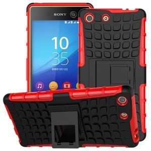 Outdoor odolný kryt pre mobil Sony Xperia M5 - červený - 1