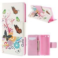 Crafty Peňaženkové puzdro pre Sony Xperia M5 - motýľe - 1/7