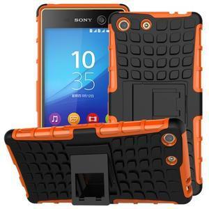 Outdoor odolný kryt pre mobil Sony Xperia M5 - oranžový - 1