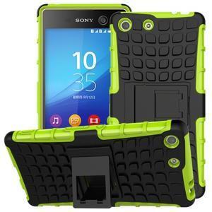Outdoor odolný kryt pre mobil Sony Xperia M5 - zelený - 1