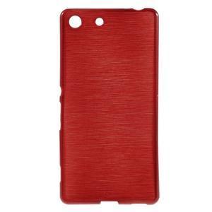 Brush gélový obal pre Sony Xperia M5 - červený - 1