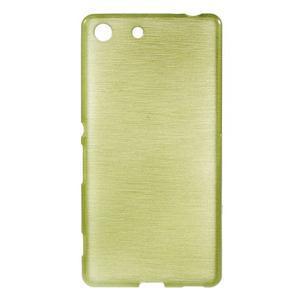 Brush gélový obal pre Sony Xperia M5 - zelený - 1