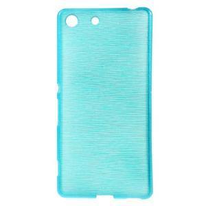 Brush gelový obal pro Sony Xperia M5 - modrý - 1