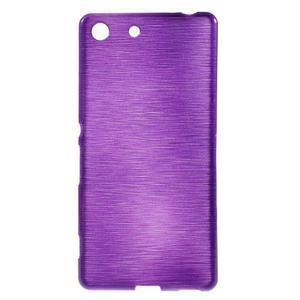 Brush gélový obal pre Sony Xperia M5 - fialový - 1