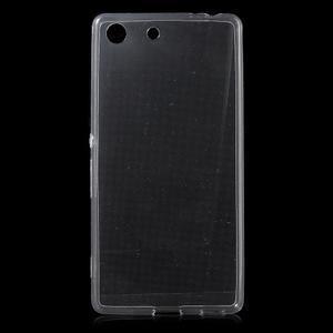 Ultratenký slim gelový obal na mobil Sony Xperia M5 - transparentní - 1