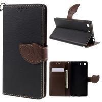 Blade Peňaženkové puzdro pre Sony Xperia M5 - čierne - 1/3