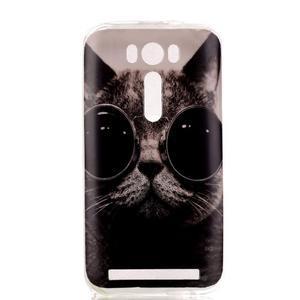 Softy gelový obal na mobil Asus Zenfone 2 Laser - cool kočka - 1
