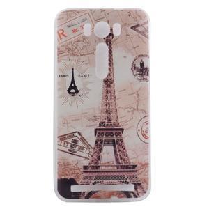 Softy gelový obal na mobil Asus Zenfone 2 Laser - Eiffelova věž - 1