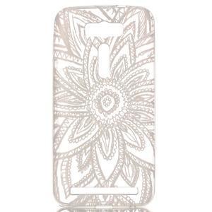 Retrostyle gelový obal na Asus Zenfone 2 Laser - krajková květina - 1