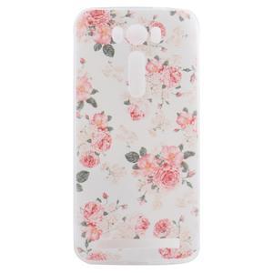 Softy gelový obal na mobil Asus Zenfone 2 Laser - květinová koláž - 1