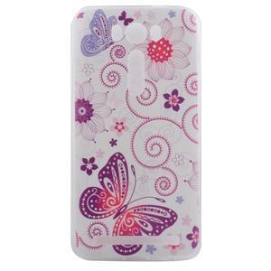 Softy gélový obal pre mobil Asus Zenfone 2 Laser - motýľek - 1