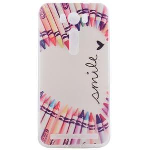 Softy gelový obal na mobil Asus Zenfone 2 Laser - smile - 1